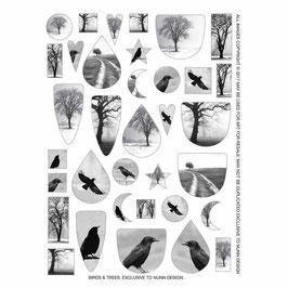Collage  Bogen Vögel & Bäume - Nunn Design