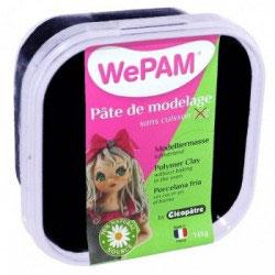 WePAM® Modelliermasse Kalt-Porzellan - 145 ml, Schwarz