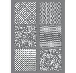 Schablone Geometrik