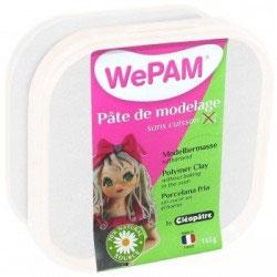 WePAM® Modelliermasse Kalt-Porzellan - 145 ml, Perlmutt-Weiß