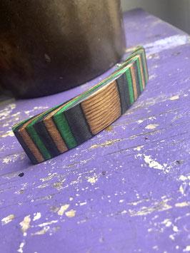 Nr.3 Holzhaarspange Birkenfurnier gefärbt