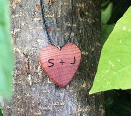 Holzherz Lebensbaum mit Wunschgravur