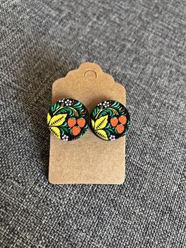 HolzOhrstecker Erdbeeren