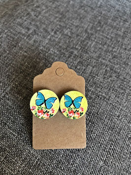 HolzOhrstecker Schmetterling
