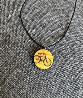 HolzAnhänger Fahrrad gelb