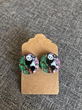 HolzOhrstecker Pandabär