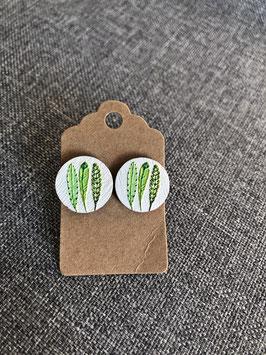HolzOhrstecker Blätter