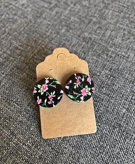 HolzOhrstecker Blüten rosa