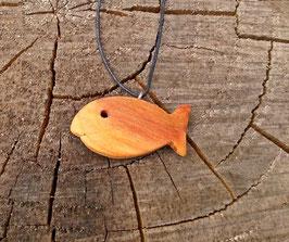 Holzfisch klein aus Zwetschgenholz