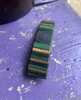 Nr.7 Holzhaarspange Birkenfurnier gefärbt