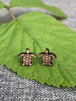 Ohrstecker Nussbaum Schildkröte
