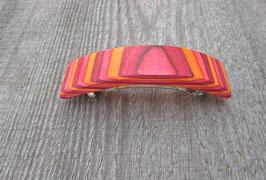 Nr.8 Holzhaarspange Furnierholz rot