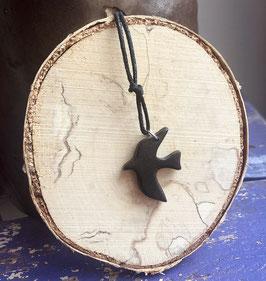 Holzschwalbe schwarzgrau