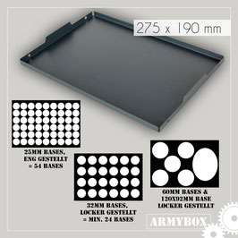 Armybox extra Tray - Tactical Black Metal Series (Metal-Frame only!)