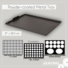Armybox extra Tray - Metal Black Series Size (Metal- Frame only!)