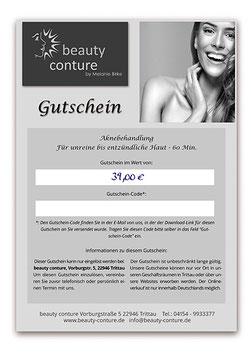 GUTSCHEIN Aknebehandlung - 60 Min.