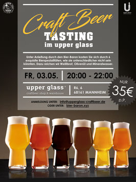 Craft Beer Tasting am 3. Mai