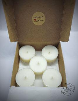 VelaMondo Kokos-/Sojawachs Teelichter 5er Box