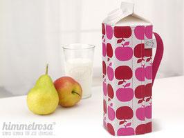 Kanne, Apfel in rot/pink – hoch