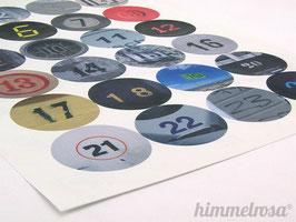 24 Aufkleber für den Adventskalender