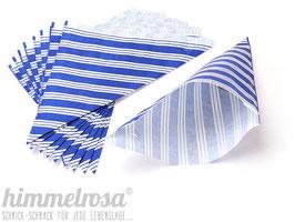 10 Spitztüten mit Streifen in blau - Größe M (REST)