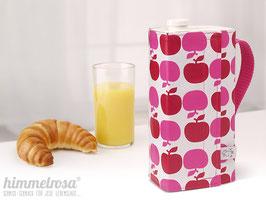 Kanne, Apfel in rot/pink – breit