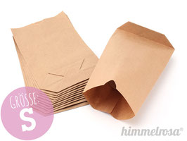 12 Papiertüten braun - Größe S