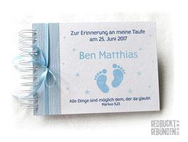 Kleines Fotoalbum Taufe Babyshower Junge Mädchen
