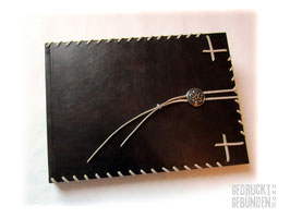 Gästebuch Leder Keltischer Knoten