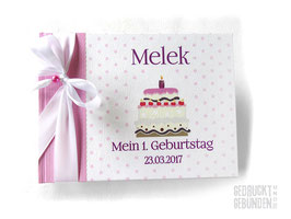 Foto Gästebuch Geburtstagstorte bunt