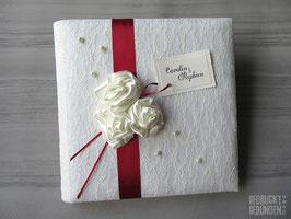 Hochzeitsalbum Lingerie Rosen
