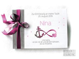 Foto Gästebuch Infinity Anker Herz Sterne