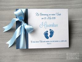 Foto Gästebuch Taufe Babyfüße