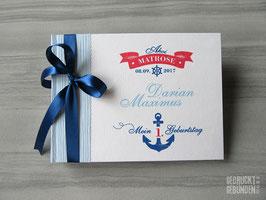 Foto Gästebuch Kindergeburtstag Ahoi Matrose