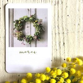 Mini carte MERCI