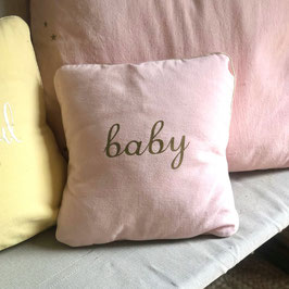 "Coussin ""Baby"", rose perle"