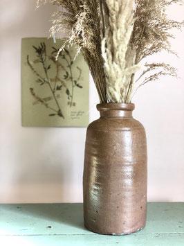 Grand vase en grès marron