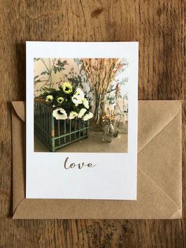 Carte postale vernie LOVE