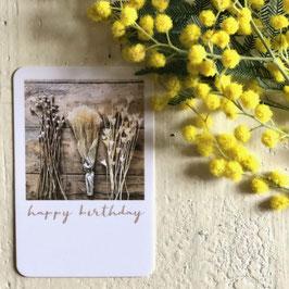 Mini carte HAPPY BIRTHDAY