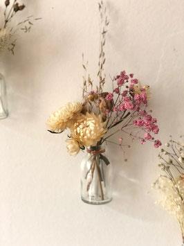 Petite fiole Solo rose et blanche