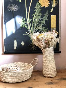 Vase marocain en feuille de palmier