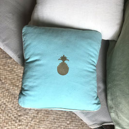 Coussin Ananas, turquoise