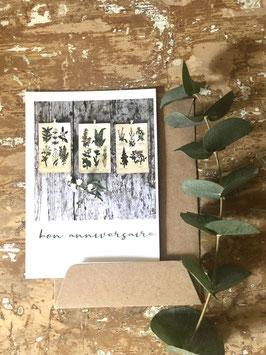 Carte postale vernie BON ANNIVERSAIRE