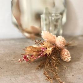 Mini vase écru et rose