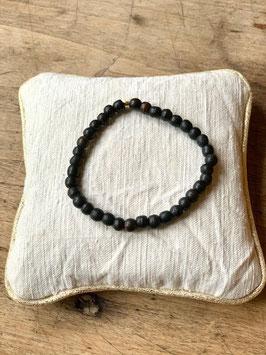 Bracelet femme perle de bois noire