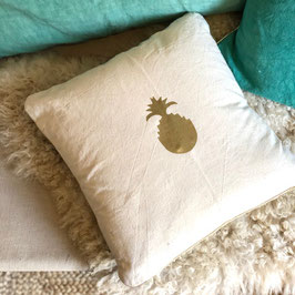 Coussin Ananas, lin naturel