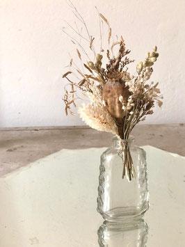 Mini vase écru et blanc