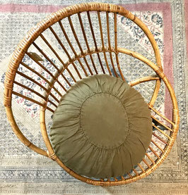 """Coussin rond """"tabac"""""""