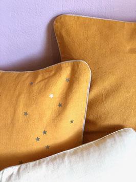 Coussin Pluie d'étoiles, melon