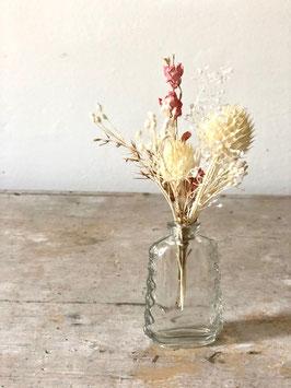 Mini vase rose et blanc